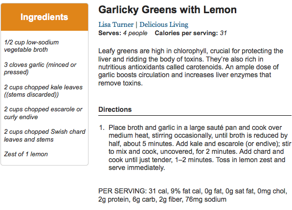 Galicky Greens with Lemon