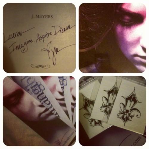 Super big thanks to J Meyers c: #book #bookmarks #signed