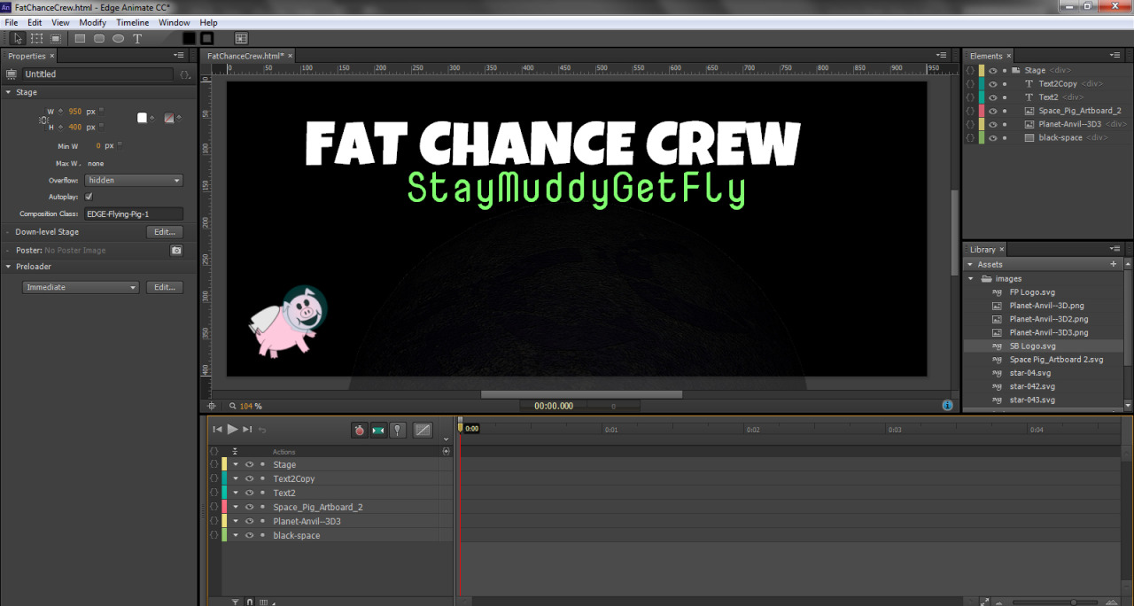 Staging for Adobe Edge Animate