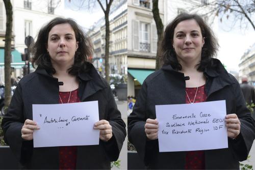 """""""Elle est autoritaire, cassante…""""</p><br /><br /><br /><br /><br /> <p>Entendu par Emmanuelle Cosse, Secrétaire Nationale EELV, Vice-Présidente Région Ile-de-France."""