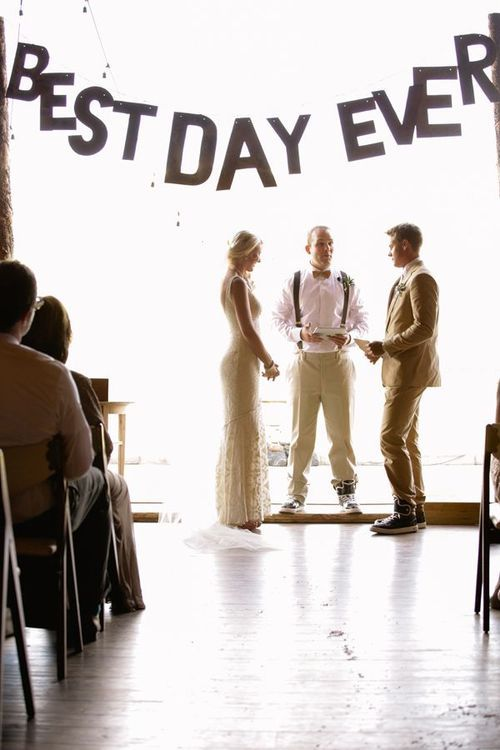best day ever banner! / the. chapel.