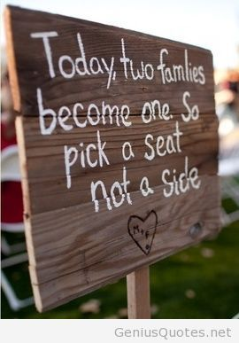 Ceremony family quote for marriage