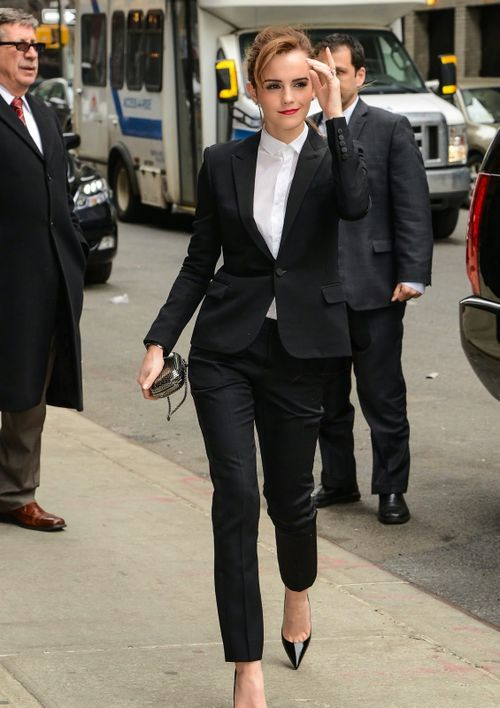Emma Watson Arriving to the Late Show with David Letterman