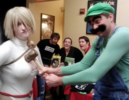 power girl and luigi cosplay