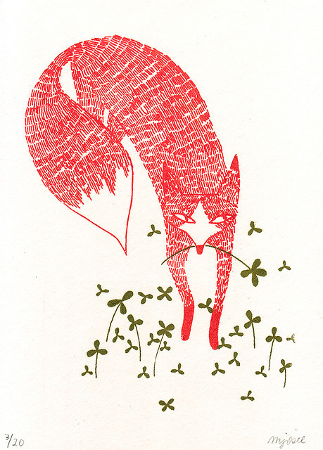 Fox and Clover by Melinda♥Josie on Flickr.