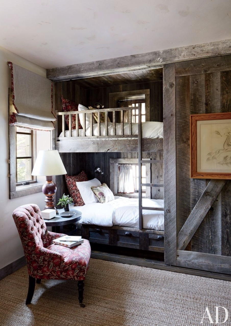 How fabulous are these architectural bunk beds?