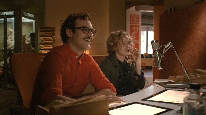 scene from her with Amy Adams and Joaquin Phoenix