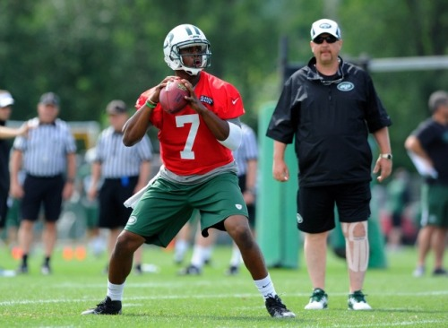 Braylon Edwards sees a little bit of Russell Wilson in Geno Smith [pictured]. (USATSI)