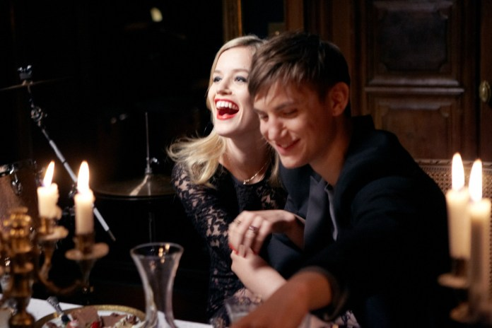 A romantic dinner for Georgia May Jagger and Josh McLellan shooting Sisley Live campaign with Olivier Zahm.