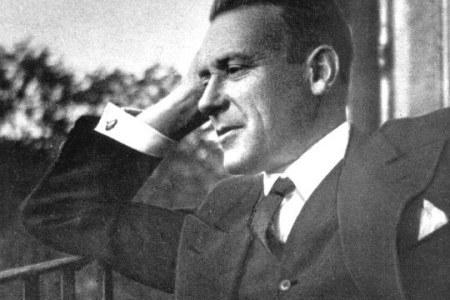 [Bulgakov at his Moscow flat, 1935]