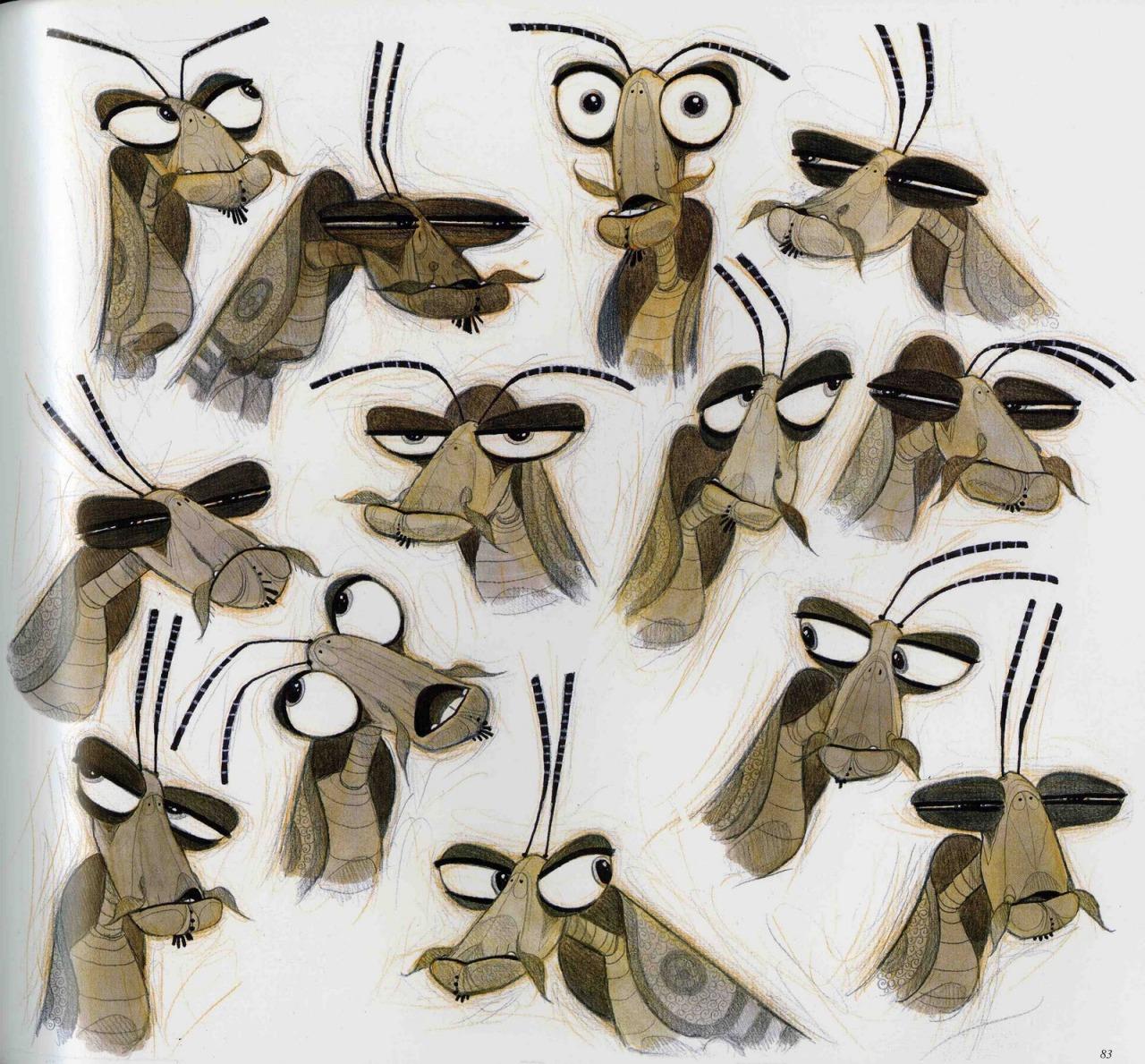 Kung Fu Panda Dreamworks Character Design Crane Po Mantis