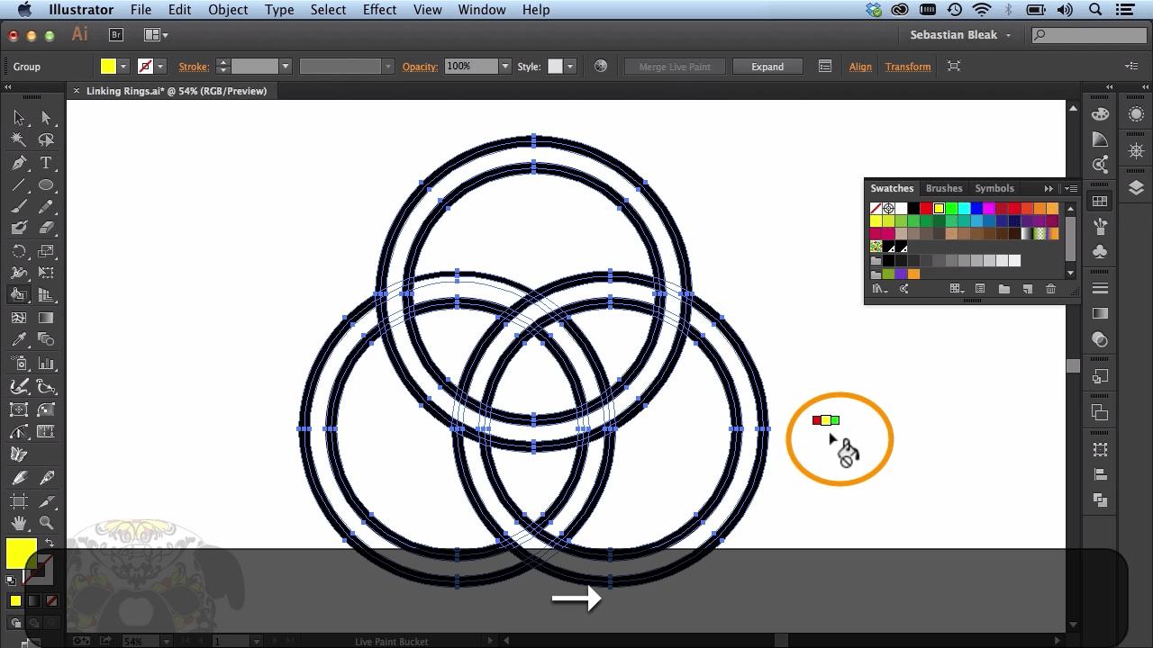 Adobe Illustrator CC Linked Rings