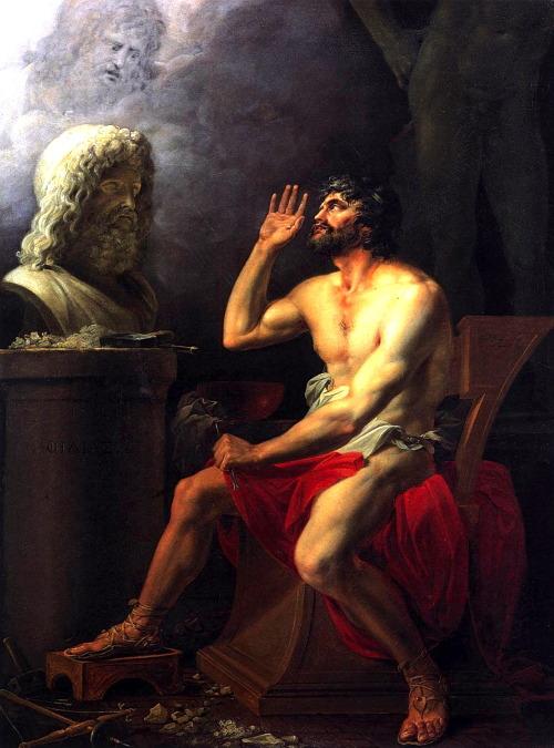 necspenecmetu:  József István Pál Dorffmeister, Phidias Chiseling the Bust of Zeus, 1802