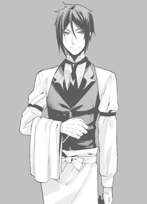 My Edits Black And White Monochrome Kuroshitsuji Sebastian