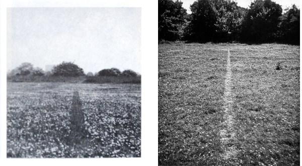 Jan Dibbets - Strip in a Meadow & Richard Long - A Line Made by Walking