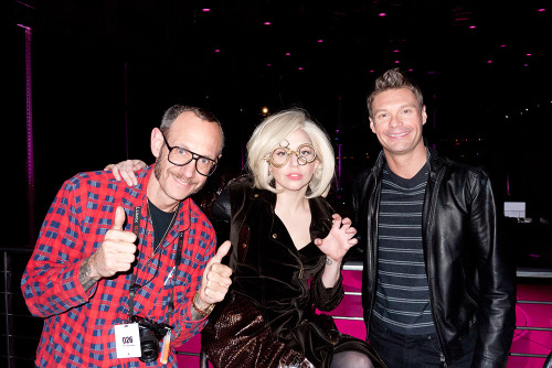 Me, Lady Gaga, and Ryan Seacrest at ArtRave.