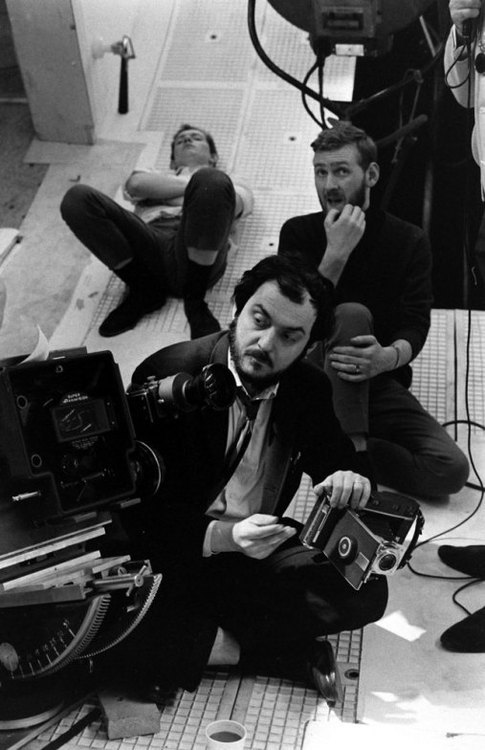 Stanley Kubrick on the set of '2001: A Space Odyssey', 1968.