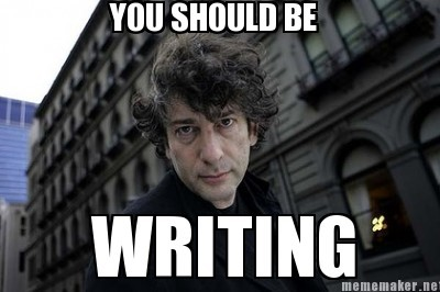 Neil Gaiman disapproves of writing-delinquency.