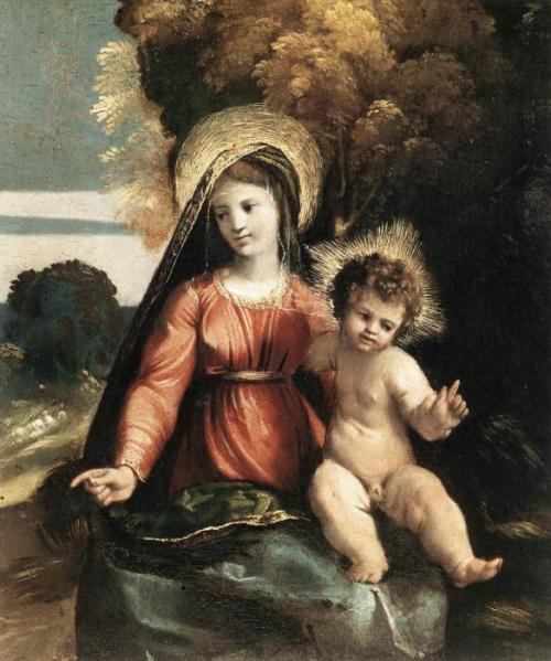 Madonna and Child, 1525; by Dosso Dossi