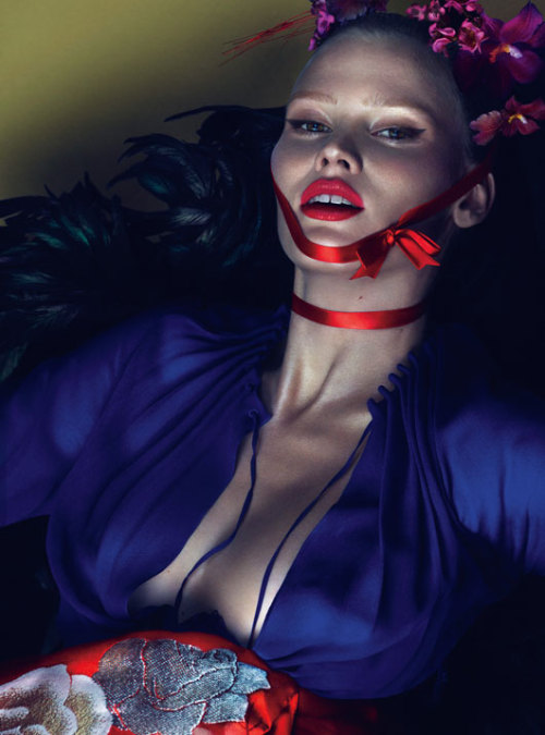 saloandseverine:W March 2013Lara Stone by Mert & Marcus