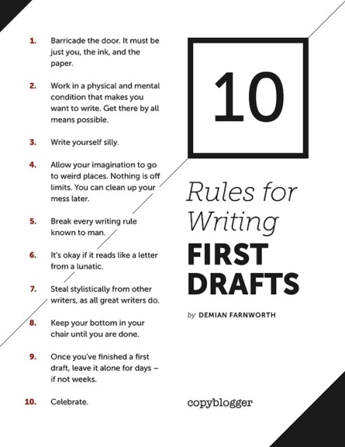 Monday Money Tumblr Tips For Writing A First Draft