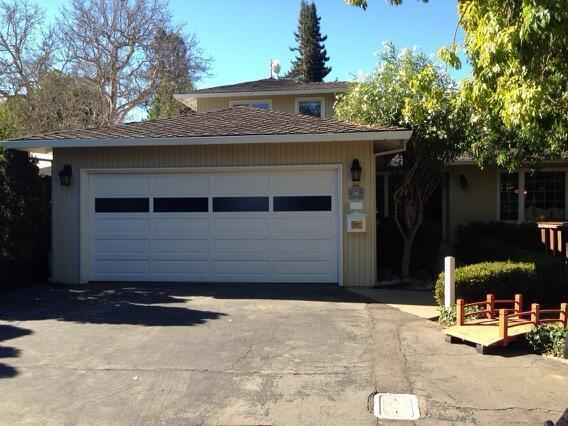 The Menlo Park house and garage where Google founders Larry Page and Sergey Brin used to work