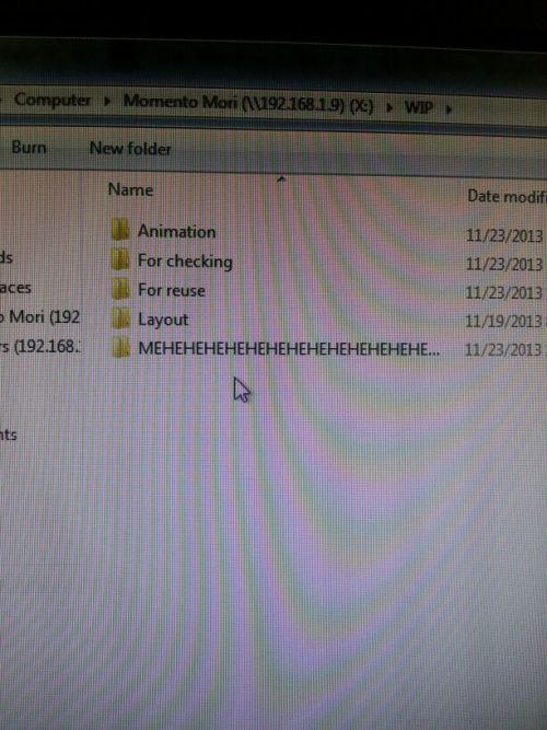 The mysterious MEHEHEHEHEHE folder...
