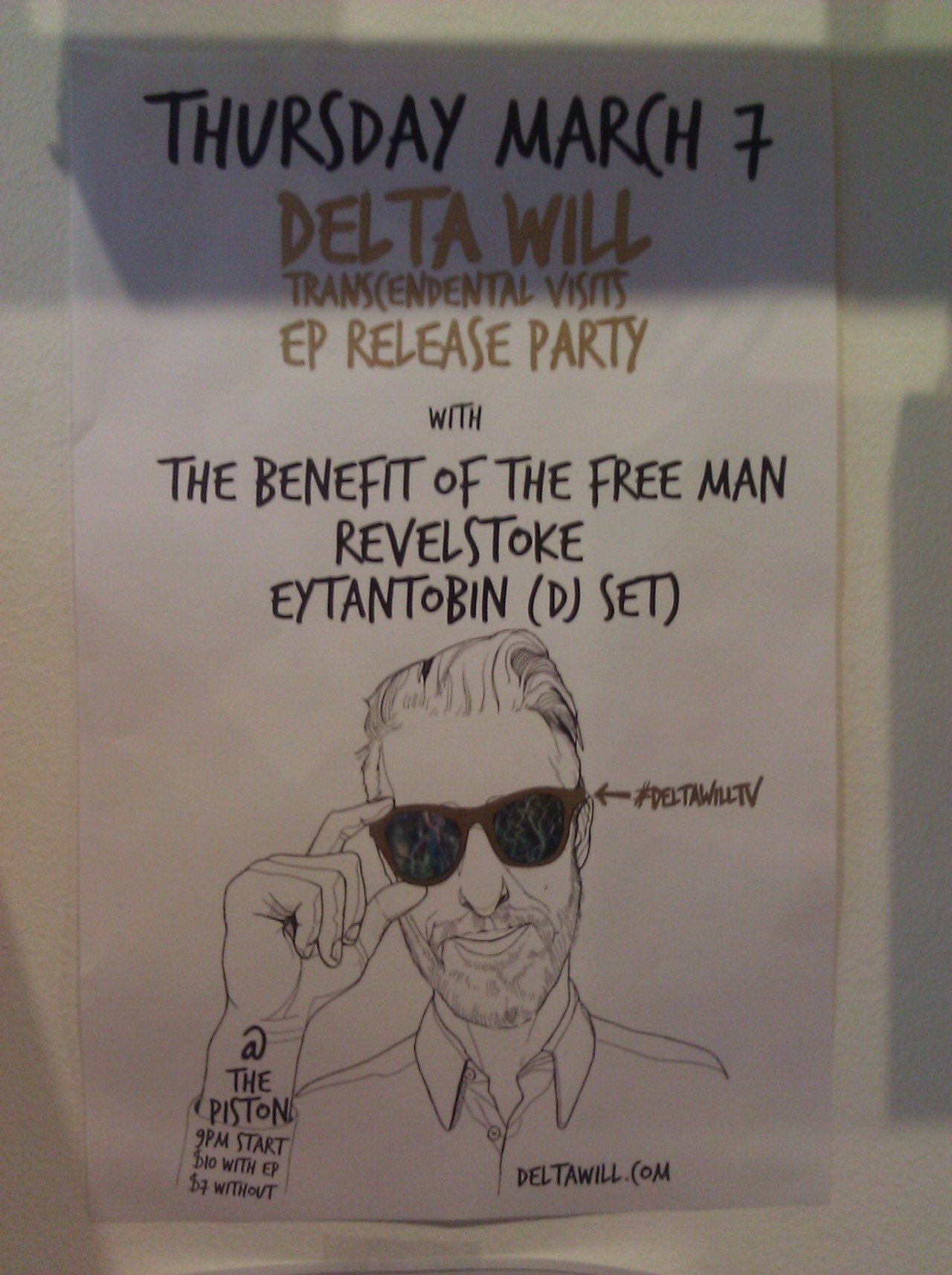 Delta Will on March 7 at The Piston