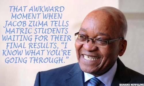 Jacob Zuma's Awkward Moment