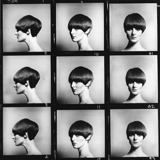 Sassoon's 5 Point Bob by Eric Swayne, modeled by Grace Coddington