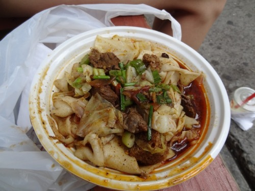 Xi'an Spicy and Tingly Beef with Hand-ripped Noodles