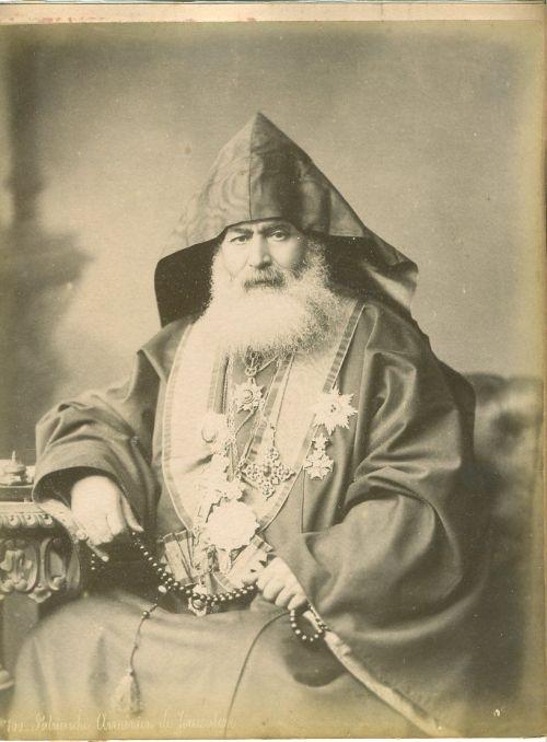 Yessayi Garabedian, the Armenian Patriarch in Jerusalem, Felix Bonfils