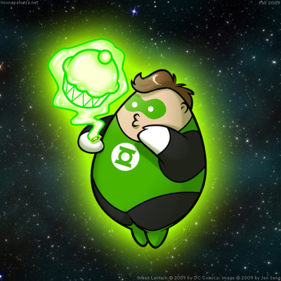 Chubby Green Lantern