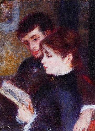 Reading Couple by Pierre Auguste Renoir