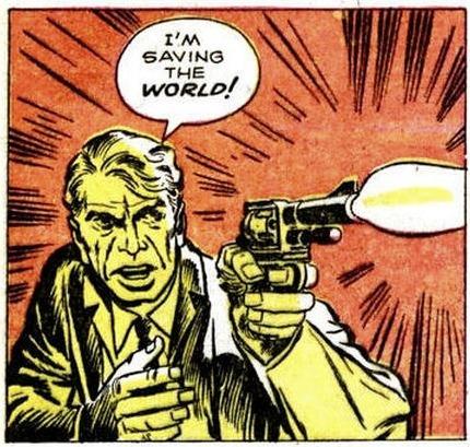 I'm saving the world!via