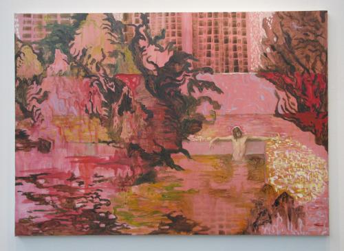 Pool (2009), olja och vinyl på duk, 100x140cm, Jan Rydén
