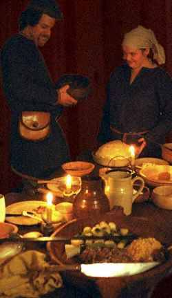 """Preserved foods of the Viking Age  Why food preservation is important While the urban population during the Viking age may have had access to frequent markets or food stalls, the majority of the (rural) Vikings population had to rely on food preservation to survive the winter. Most Viking farmers had comparatively small holdings, and produced food mainly for the subsistence of their own families, rather than generating cash crops what would allow them to purchase food from external sources. Starving sucks In a subsistence farming economy, each farming household had to rely on the produce of their farm for the majority of their living. Given the short growing season in the North, it was even more important to preserve the farm's produce over the winter. No refrigeration Almost all of the techniques for food preservation that we rely upon today were unknown in the Viking Age. There were no refrigerators, no canned food, and no freeze drying (at least as we know it today). The Vikings had to rely on traditional methods of food preservation. Some vegetable foods can be preserved in their """"raw"""" form over the winter, particularly in a cool climate. Onions, root vegetables, and to some extent cabbages can be preserved by burying them in sand or loose soil, or storing them in hay in a cool place like a root cellar. Since Viking cabbages were not headed cabbages like we have today, they probably didn't hold up to such treatment as well as modern head cabbage. How was food preserved Drying Many different foods can be preserved by drying, including grain, meat and fish, vegetables and fruit. Drying is well suited to the cold and often windy conditions prevalent in Northern Europe, and requires little in the way of resources. Dried food can be kept for long periods of time as long as it is kept away from moisture. Foods with a high fat content do not dry well without salt or other anti-bacterial agent. Pickling Many different foods can be pickled, either in vinegar, salt, or ot"""
