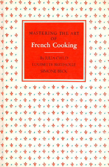 This cover is just as delicate and sophisticated as the art of French cooking itself. It suits the book perfectly.