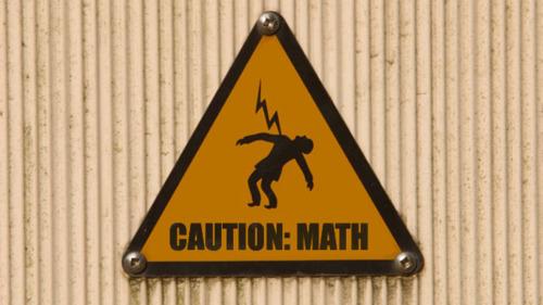 matemáticas, peligro, señal