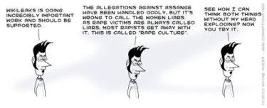 Comicstrip zu Wikileaks und Assange
