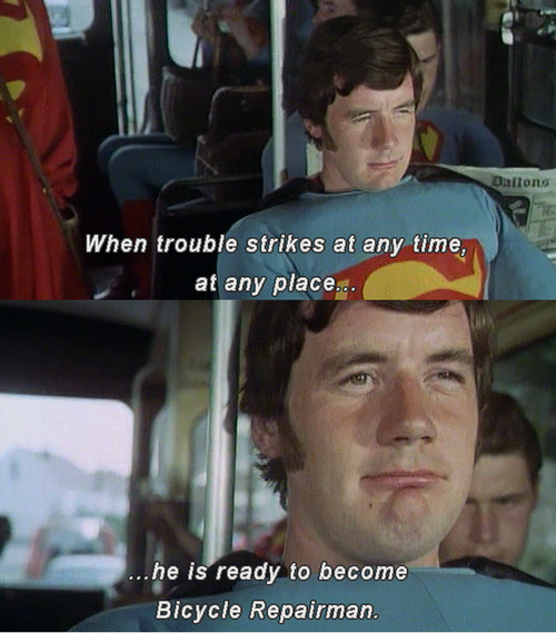 bicycle repairman, Monty Python