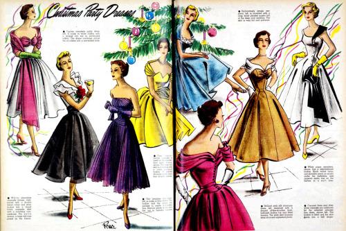 vintage Christmas dresses
