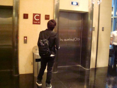 Ryeowook waiting for elevator – From110219 CR: as tagged