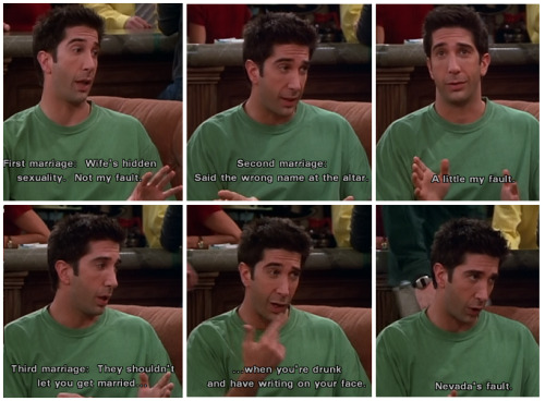 Ross explains his failed marriages