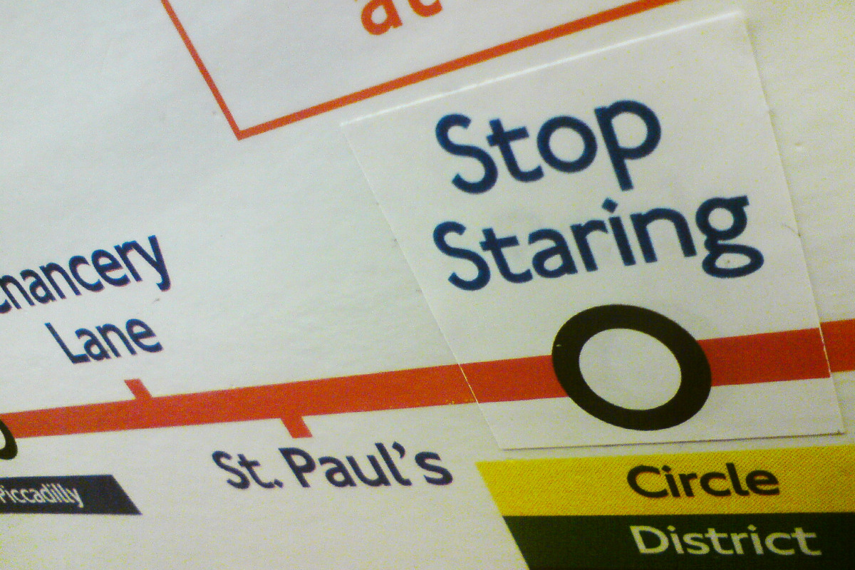 Tube maps are surprisingly shy. While it's nice to feel appreciated, few want tourists gawping at them all day.