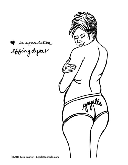 Vector Illustration Curvy Pin Up Girl