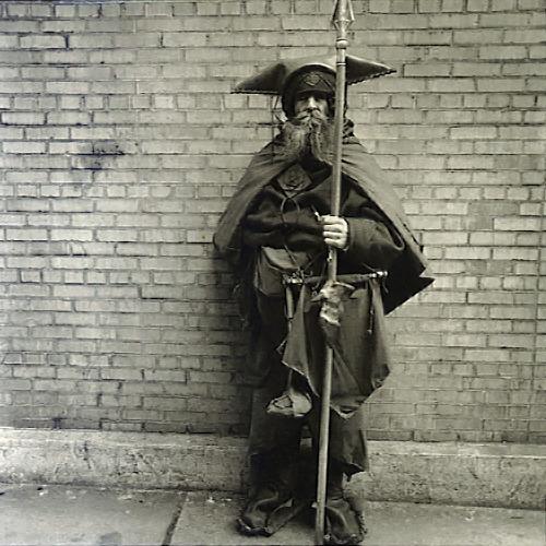 cracklepopsnap:Diane Arbus - Moondog at his regular post, NYC, 1963