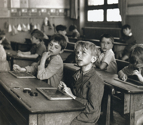 "| ♕ |  {vintage}  Robert Doisneau ""Information Scolaire"" 1956  posted by kraftgenie 
