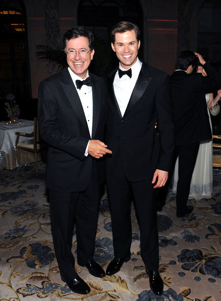 Stephen Colbert and Andrew Rannells