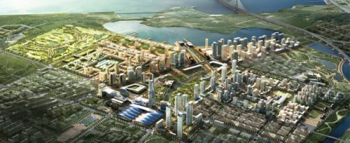 (via PHOTOS: Korea Is Building The City Of The Future On An Artificial Island)